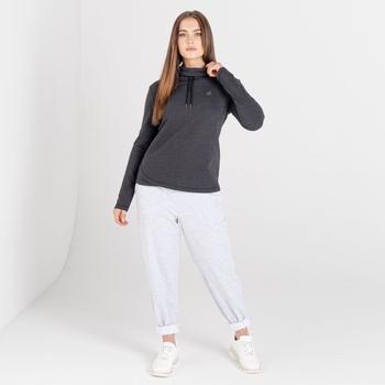Mit Swarovski verziert - Swoop luxuriöses Sweatshirt zum Drüberziehen mit lässigem Kragen für Damen Schwarz