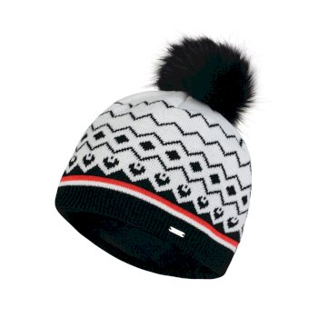 Dare2b Women's Coincide Bobble Beanie Hat White Black
