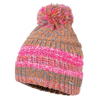 e5a78ee3 Dare2b Women's Forte Bobble Beanie Hat Pink Fusion Orange Burst