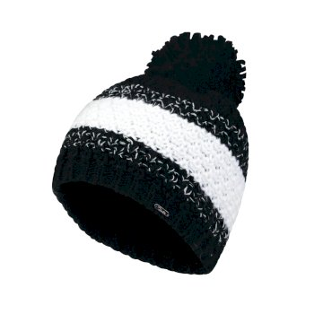 Dare2b Women's Gleam Bobble Beanie Hat Black White