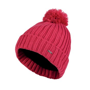 Dare2b Women's Mercy Bobble Beanie Hat Pink Fusion