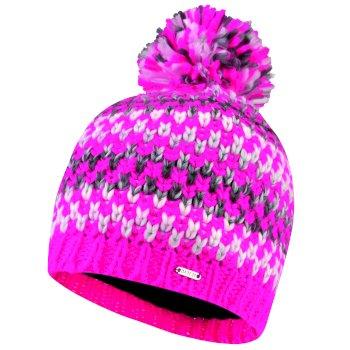 Headlines - Damen Bommelmütze Cyber Pink