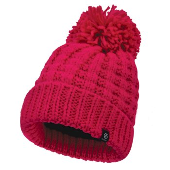 Dare2b Women's Convoke Bobble Hat - Cyber Pink