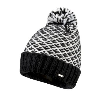 Dare2b Women's Mystify Bobble Hat - Black White