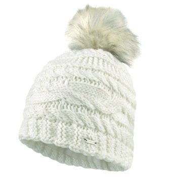 Dare2b Women's Radiance Faux Fur Bobble Hat - White