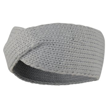 Persona - Damen Strick-Stirnband Argent Grey