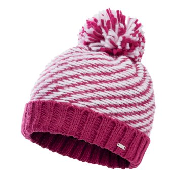Dare 2b Women's Kudos Fleece Lined Knit Bobble Beanie - Active Pink White