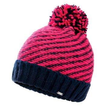 Dare 2b Women's Kudos Fleece Lined Knit Bobble Beanie - Nightfall Navy Neon Pink