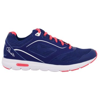 Women's Powerset Gym Shoes - Clematis Blue Fiery Coral