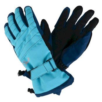 Women's Opus Ski Gloves Aqua Blue Wing