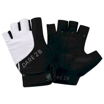 Dare2b Women's Forcible Fingerless Gloves Black White