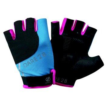 Forcible Handschuhe ohne Finger für Damen Blue Jewel Cyber Pink