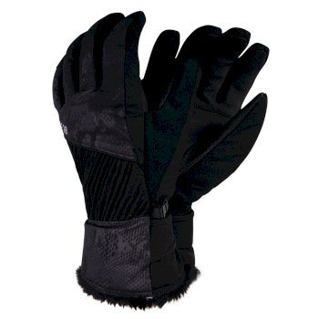 Daring - Damen Stretchhandschuhe mit Print Black