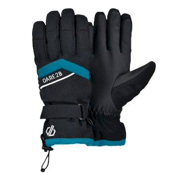 Dare 2b Women's Charisma Waterproof Insulated Ski Gloves - Azure Blue Black