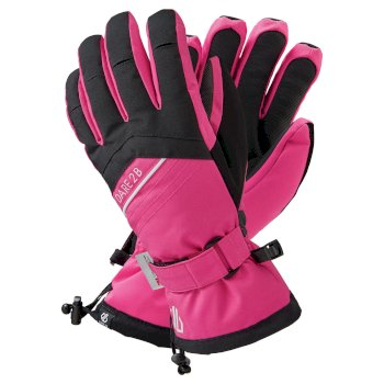 Dare 2b Women's Charisma Waterproof Insulated Ski Gloves - Active Pink Black