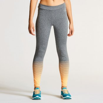 Dare 2B Women's Fragment Fitness Leggings Orange/Grey