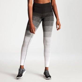 Gumption Print Fitness-Leggins für Damen schwarz-weiß gestreift