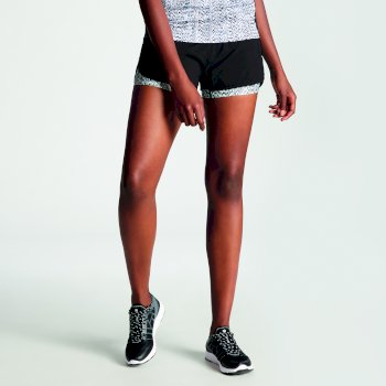 Begin Damen-Shorts mit zwei Lagen Schwarz