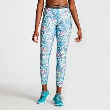 Ambition Fitness-Leggins für Damen Tropical Aruba Blau