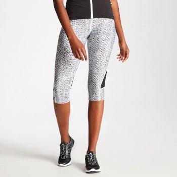 Worldly Capri-Fahrradleggings für Damen schwarz-weiß