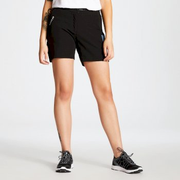 Revify leichte Mehrtaschen-Walkingshorts für Damen Schwarz