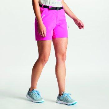 Revify leichte Mehrtaschen-Walkingshorts für Damen Cyber Pink