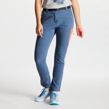 Revify leichte Damen-Wanderhose mit vielen Taschen blaugrau
