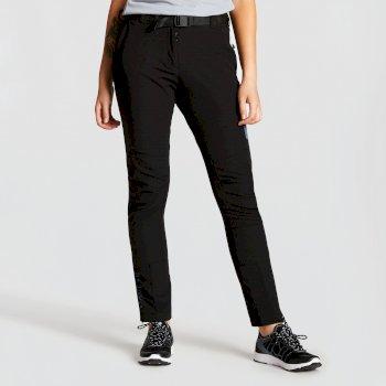 Revify leichte Damen-Wanderhose mit vielen Taschen Black