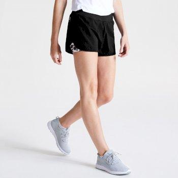 Outrun Zweilagige Shorts Für Damen Schwarz