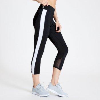 Curvate Leggings mit 3/4-Länge für Damen Schwarz