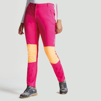Dare2b Women's Append Softshell Hybrid Trousers Pink Fusion Orange Burst