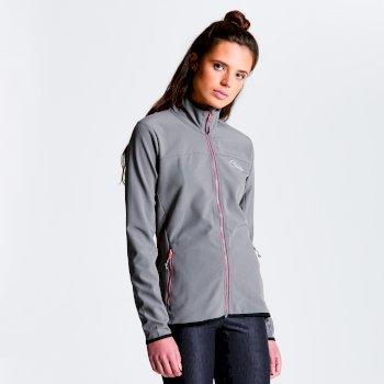 Centra Softshell-Jacke für Damen grau