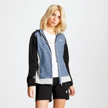 Duality II leichte Damen-Softshell-Jacke schwarz-blaugrau