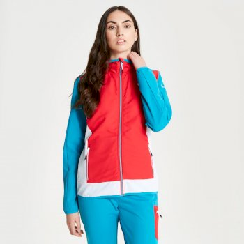 Duality II leichte Damen-Softshell-Jacke Lollipop Red Freshwater Blue