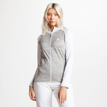 Courteous leichtes Core Stretch-Midlayer mit Kapuze für Damen White Ash Argent Grey