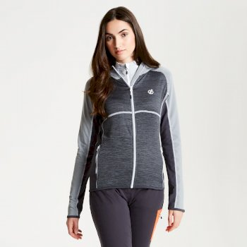Courteous leichtes Core Stretch-Midlayer mit Kapuze für Damen Charcoal