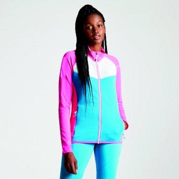Allegiance leichtes Core Stretch-Midlayer für Damen Cyber Rosa Blau Juwel