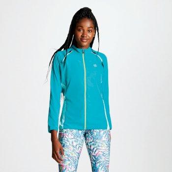 Circumspect leichte Windshell-Jacke für Damen mit abnehmbaren Ärmeln Karibisches Grün