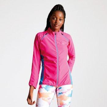 Circumspect leichte Windshell-Jacke für Damen mit abnehmbaren Ärmeln pink