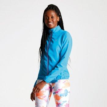 Exhultance leichte Windshell-Jacke für Damen Blaues Juwel