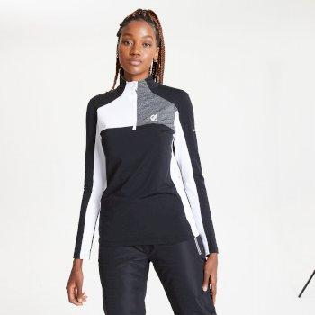 Default Core Stretch-Midlayer mit halblangem Reißverschluss für Damen Schwarz