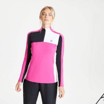 Default Core Stretch-Midlayer mit halblangem Reißverschluss für Damen Rosa
