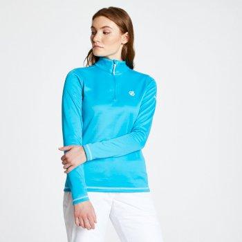 Lowline Core - Damen Midlayer-Shirt - Stretchstoff Fresh Water Blue