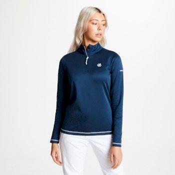 Lowline Core - Damen Midlayer-Shirt - Stretchstoff Blue Wing