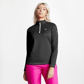 Lowline Core - Damen Midlayer-Shirt - Stretchstoff Black