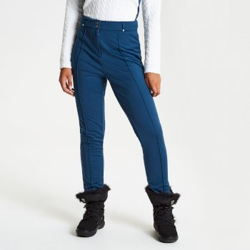 Slender - Damen Skihose - schmale Passform - luxuriös Blue Wing