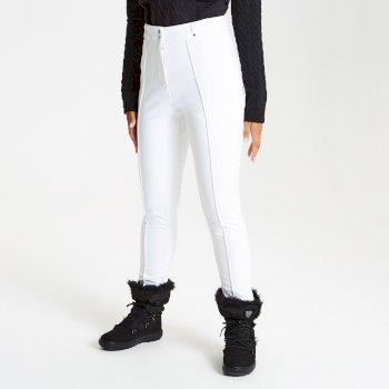 Slender - Damen Skihose - schmale Passform - luxuriös White