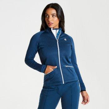 Solaria - Damen Midlayer mit Stretch und Reißverschluss - luxuriös Blue Wing