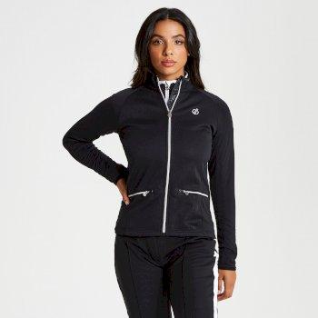Solaria - Damen Midlayer mit Stretch und Reißverschluss - luxuriös Black