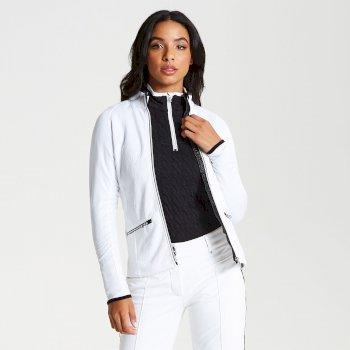 Solaria - Damen Midlayer mit Stretch und Reißverschluss - luxuriös White